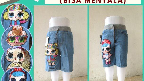 GROSIR PAKAIAN MURAH ONLINE DI BANDUNG Distributor Celana Hotpant Jeans LED Anak Bisa Menyala Terbaru Murah Hanya 38RIBUAN