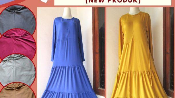Grosiran Murah di Bandung Supplier Gamis Serut Polos Wanita Dewasa Terbaru Hanya 42RIBUAN di BANDUNG