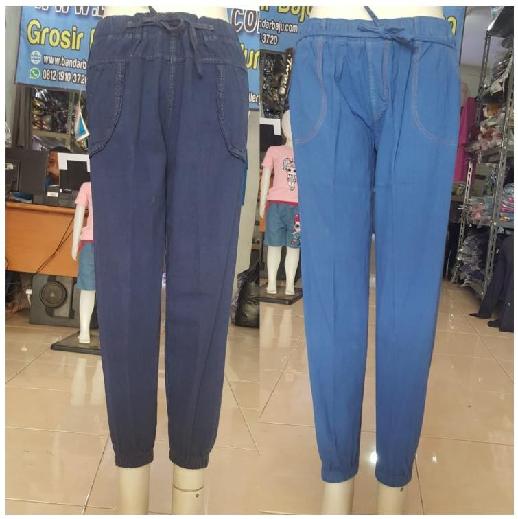 Grosiran Murah di Bandung Distributor Celana Jogger Jeans Wanita Dewasa Termurah di Bandung 40RIBUAN