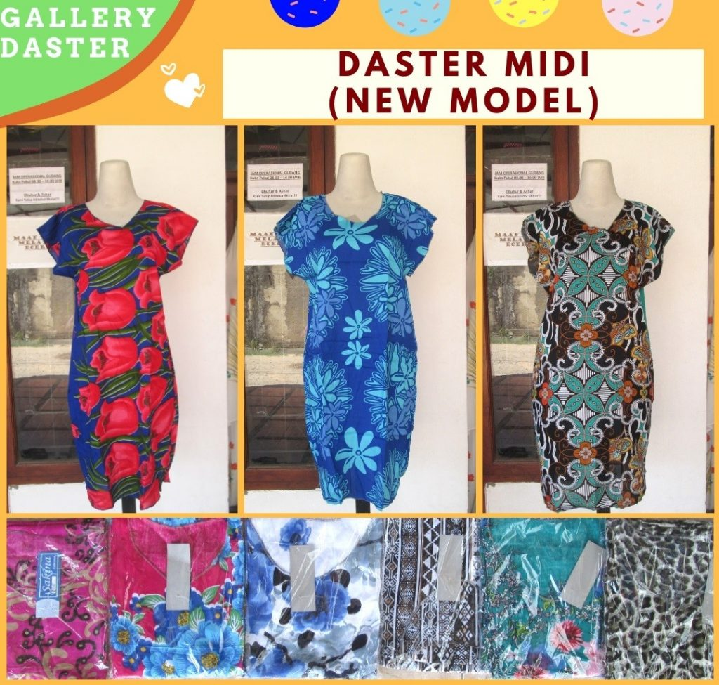 Grosiran Murah di Bandung Distributor Daster Midi Wanita Dewasa Terbaru Murah di Bandung 21RIBUAN