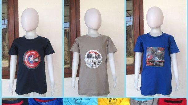 GROSIR PAKAIAN MURAH ONLINE DI BANDUNG Supplier Kaos Hologram LED Anak Laki Laki Karakter Bisa Menyala Termurah di Bandung 30RIBUAN