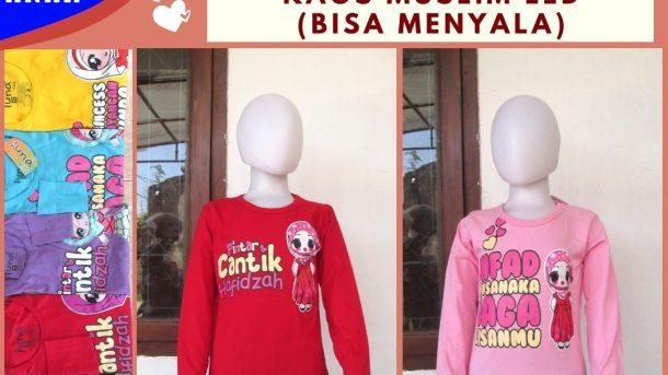 GROSIR PAKAIAN MURAH ONLINE DI BANDUNG Sentra Grosir Kaos Muslim LED Anak Perempuan Termurah di Bandung Hanya 30RIBUAN