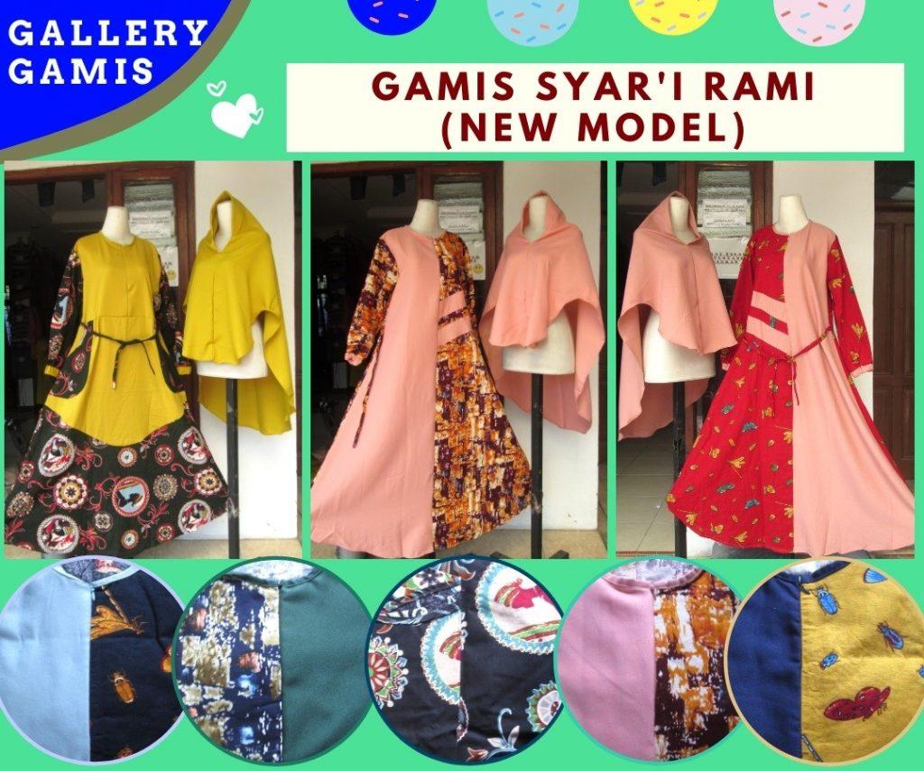 Grosiran Murah di Bandung Supplier Gamis Syar'i Rami Model Terbaru Murah di Bandung Hanya 86RIBUAN