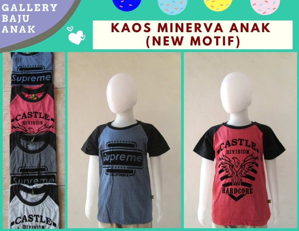 Grosiran Murah di Bandung Produsen Kaos Minerva Anak Laki Laki Termurah di Bandung Hanya 16RIBUAN