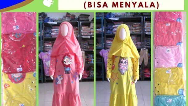 Grosiran Murah di Bandung Distributor Gamis Dena Terry LED Anak Perempuan Karakter Murah di Bandung 47RIBUAN