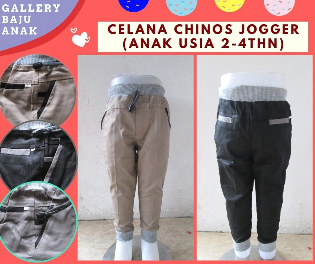 Grosiran Murah di Bandung Supplier Celana Chino Jogger Anak Laki Laki Murah di Bandung Hanya 30RIBUAN