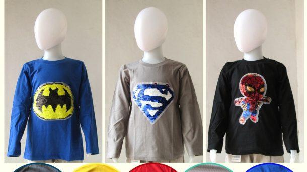 GROSIR PAKAIAN MURAH ONLINE DI BANDUNG Reseller Kaos Usap Anak Lengan Panjang Bisa Berubah Warna Murah Hanya 31RIBUAN