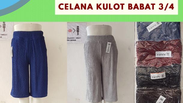 GROSIR PAKAIAN MURAH ONLINE DI BANDUNG Supplier Celana Kulot Babat 3/4 di Bandung Rp 26,000