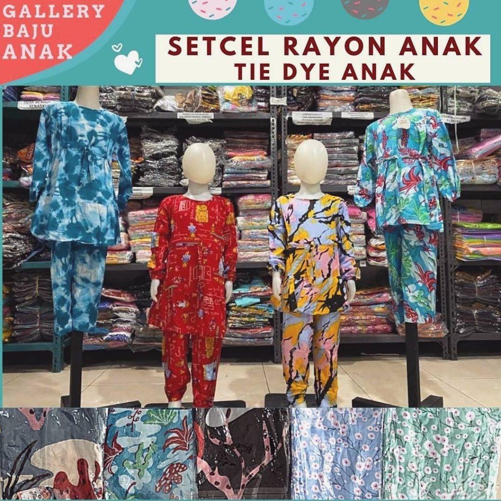 GROSIR PAKAIAN MURAH ONLINE DI BANDUNG Distributor Setcel Rayon Anak di Bandung Rp 47000