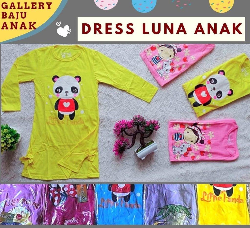 Grosiran Murah di Bandung Distributor Dress Luna Anak di Bandung Rp 26000