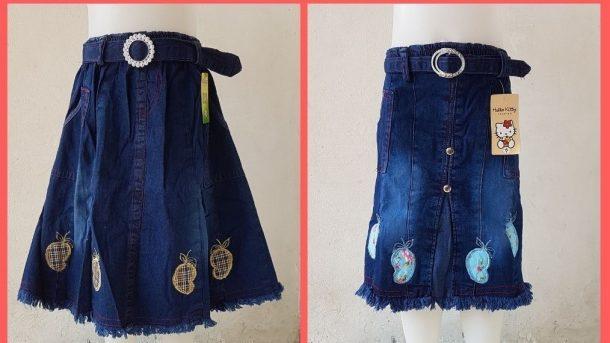 GROSIR PAKAIAN MURAH ONLINE DI BANDUNG Distributor Rok Jeans Anak di Bandung Rp 25000