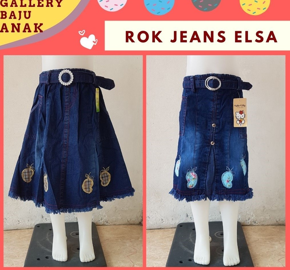 Grosiran Murah di Bandung Distributor Rok Jeans Anak di Bandung Rp 25000