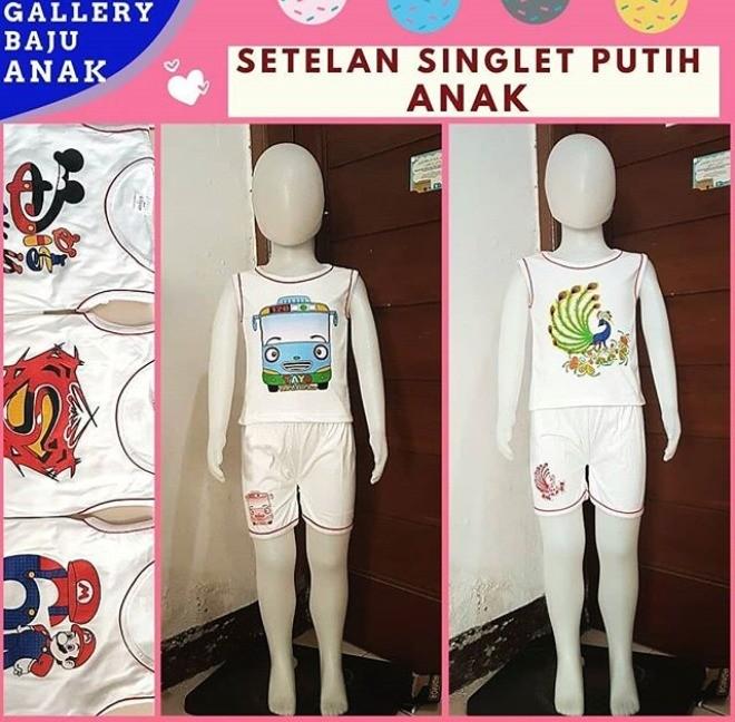 Grosiran Murah di Bandung Produsen Setelan Singlet Anak di Bandung Rp 15000