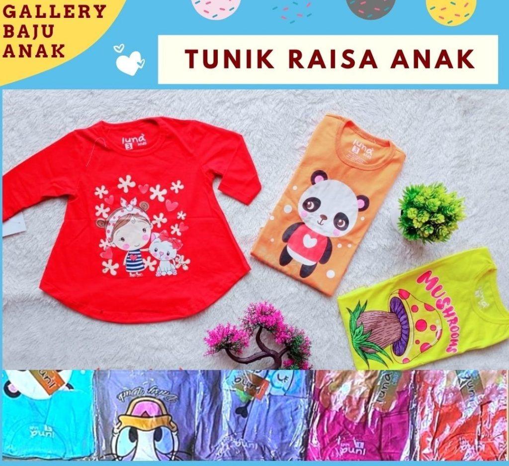 GROSIR PAKAIAN MURAH ONLINE DI BANDUNG Grosir Tunik Raisa Anak di Bandung Rp 17500