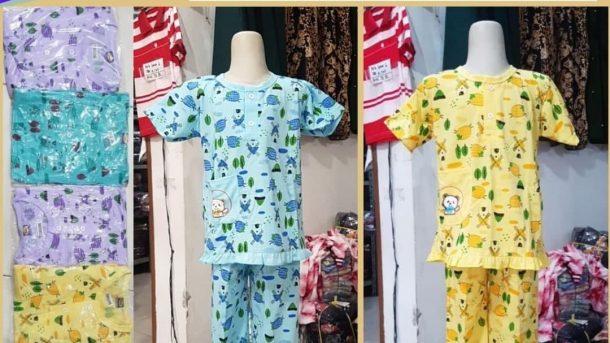 GROSIR PAKAIAN MURAH ONLINE DI BANDUNG Distributor Babydoll Cotton Anak Tangan Pendek di Bandung 22,000