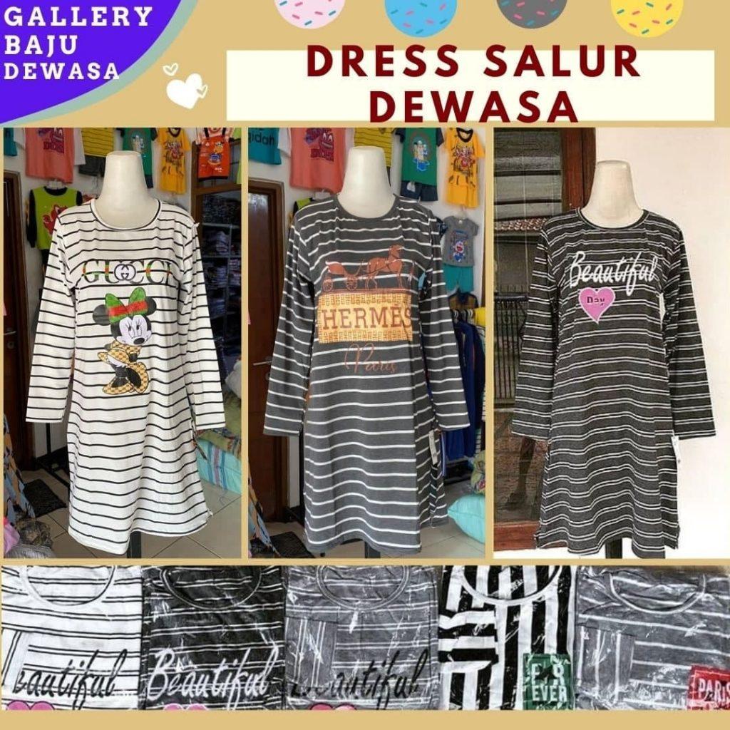 GROSIR PAKAIAN MURAH ONLINE DI BANDUNG Pabrik Dress Salur Dewasa di Bandung 24,000