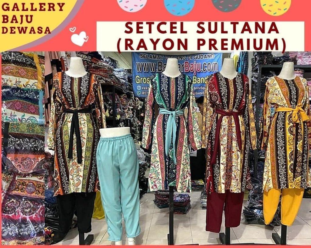 GROSIR PAKAIAN MURAH ONLINE DI BANDUNG Distributor Setelan Sultan Dewasa di Bandung Rp 94,000