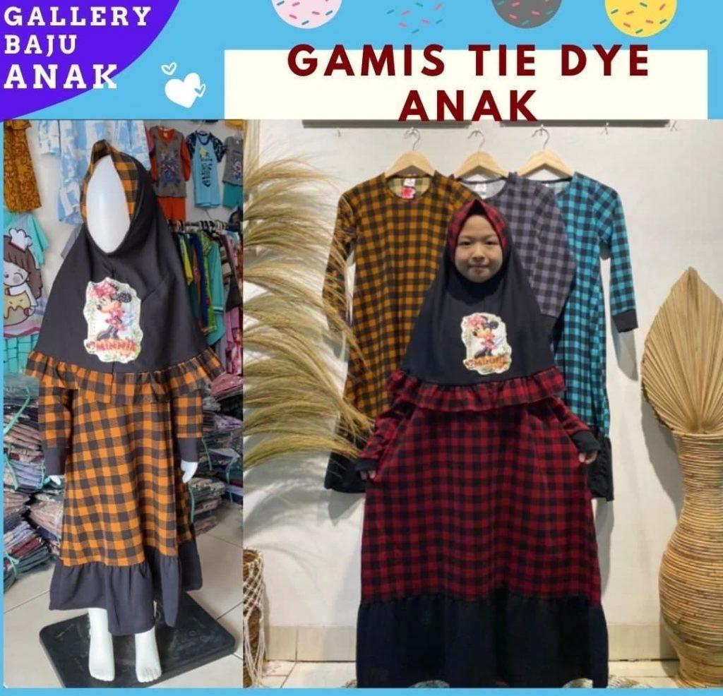 Grosiran Murah di Bandung Pabrik Gamis Tie Dye Anak Murah di Bandung