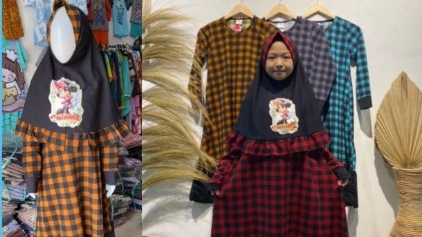 GROSIR PAKAIAN MURAH ONLINE DI BANDUNG Pabrik Gamis Tie Dye Anak Murah di Bandung
