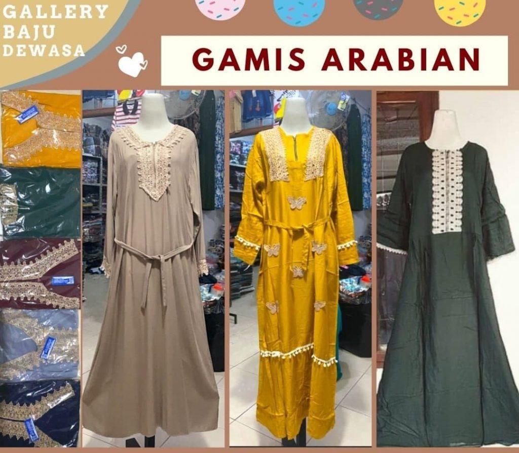 Grosiran Murah di Bandung Pabrik Gamis Arab Renda di Bandung 55,000