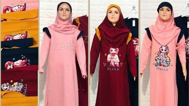 GROSIR PAKAIAN MURAH ONLINE DI BANDUNG Produsen Gamis Zahira Anak Murah di Bandung