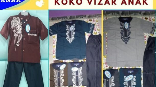 GROSIR PAKAIAN MURAH ONLINE DI BANDUNG Distributor Koko Vizar Anak di Bandung Rp 67000