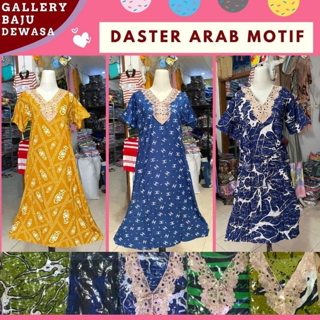 GROSIR PAKAIAN MURAH ONLINE DI BANDUNG Distributor Daster Arab Motif di Bandung Rp 40000
