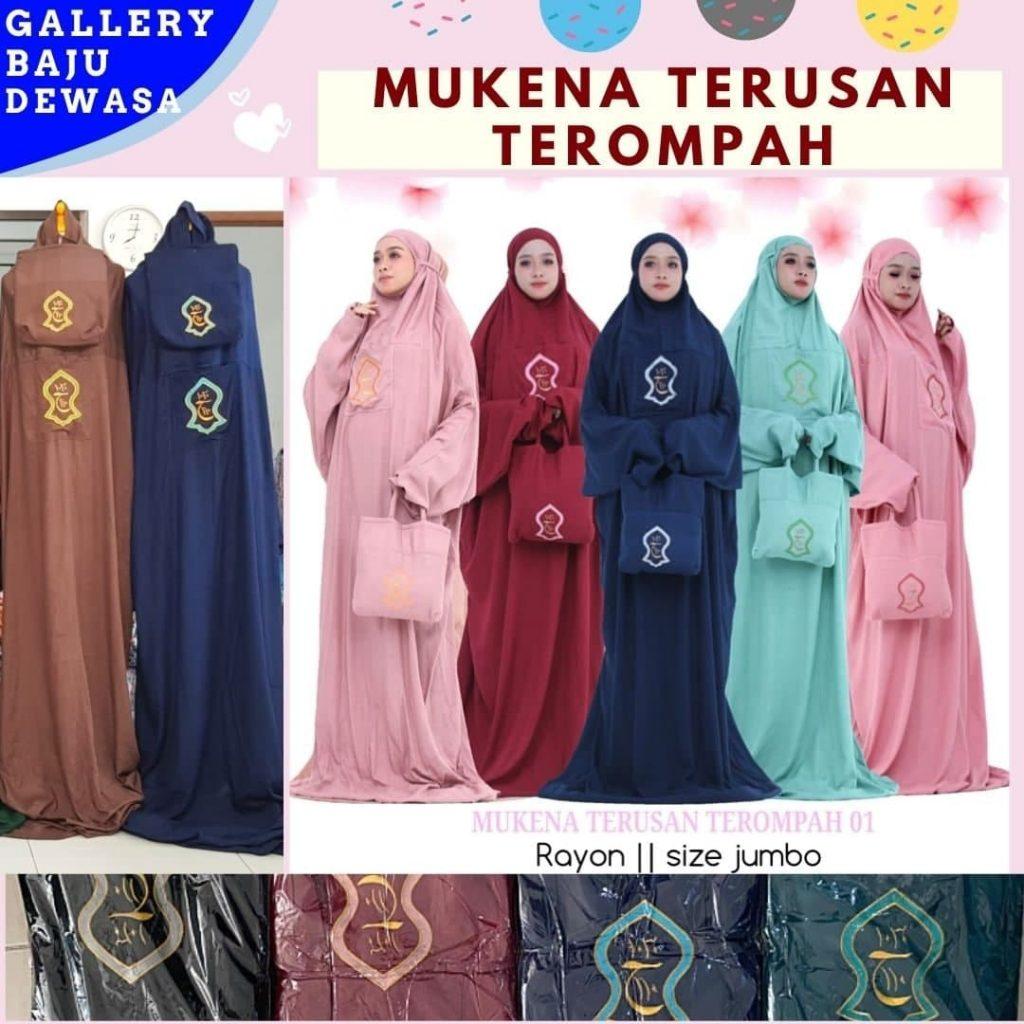 GROSIR PAKAIAN MURAH ONLINE DI BANDUNG Produsen Mukena Terusan Dewasa di Bandung Rp 77000