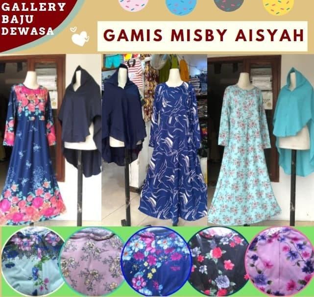 GROSIR PAKAIAN MURAH ONLINE DI BANDUNG Distributor Gamis Misby Aisyah di Bandung Rp 66000