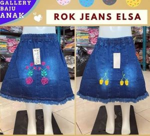 GROSIR PAKAIAN MURAH ONLINE DI BANDUNG rok jeans elsa
