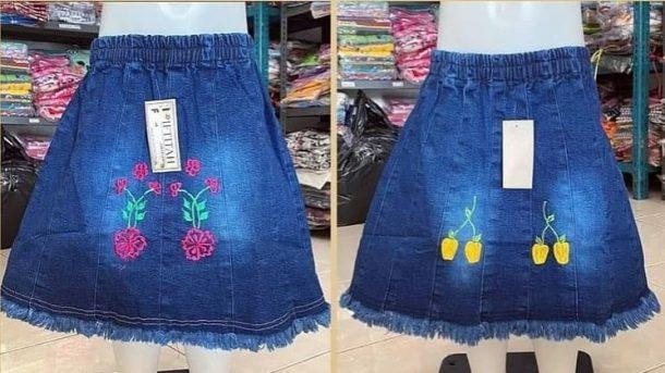 GROSIR PAKAIAN MURAH ONLINE DI BANDUNG Grosir Rok Jeans Anak di Bandung Rp 25000