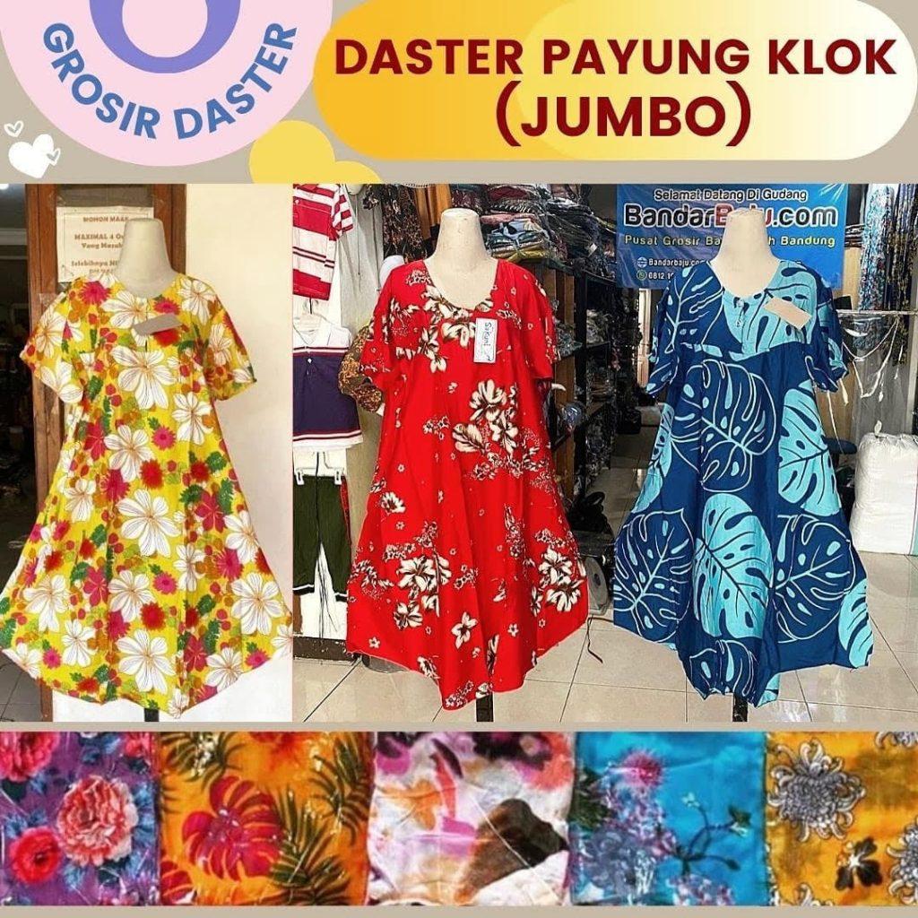 GROSIR PAKAIAN MURAH ONLINE DI BANDUNG Distributor Daster Payung Klok (Jumbo) Rp. 36.500